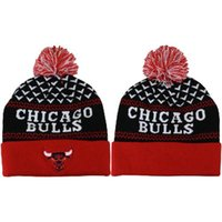 Wholesale Bulls Knitted Hats Cheap Basketball Skull Caps Brand Knit Beanie Hats Fashion Beanie Caps Top Quality Pompom Beanies Allow Mix Order