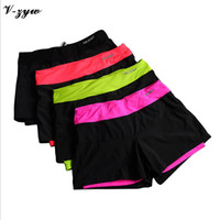 Wholesale Summer Running Athletic Short Women Fashion Casual Breathable Cool Shorts Gym Cycling Sport Fitness Shorts Workout Clothes SL007