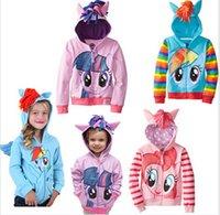 Wholesale My little pony zipper Hoodies Little Pony Outwear Coats Cartoon children outerwear My little pony kids hoody Jacket DDD2680