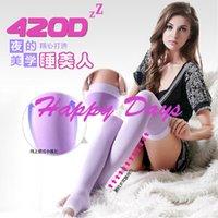 others   Via Fedex EMS, Women 420D Health Sleep Socks Varicose Veins Stocking Beauty Leg Slimming Socks With Color Box, 120Pairs