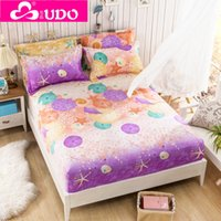 Wholesale You Duo Home Textile Polyester Cartoon Mattress Cover Reactive Printing Bed Mattress Protector cm NM002
