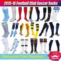 Wholesale 2015 Adult Soccer Sock Top Thai quality Football club New season Football socks Absorb sweat thickened long barreled Men sports socks