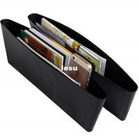 auto leather seat - 2 Auto Car Seat Gap Pocket Catcher Organizer Leak Proof Storage Box