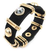 Wholesale Hot Sell real Leather leopard rhinestone Wrap Bracelet for Women Bracelet