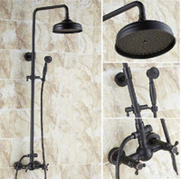 Wholesale And Retail Wall Mounted Oil Rubbed Bronze quot Rain Shower Head Shower Valve Hand Shower Set