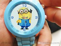 Wholesale Despicable Me watch kids fashion watch quartz cartoon Jelly with box Cute Lovely Girl woman lady Kids birthday gift cheap K137