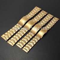 Wholesale Durable Suitable Golden Watch Strap Bracelet Stainless Steel Band Link Straight End mm