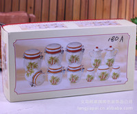 Wholesale chef pattern of European ceramics sets of kitchen cruet Canister JH180A