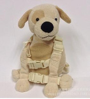 Wholesale Pearl velvet cream colored dog children bag which can prevent baby being lost Packet backpack cute baby toys Soft cheap Lcan be customized2