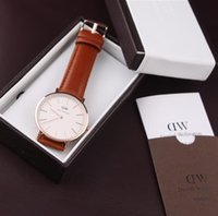 Wholesale Top Brand Daniel Wellington Watches With Original Watch Box DW Watch For Men leather Strap Military Quartz Wristwatch Clock Reloj hombre m
