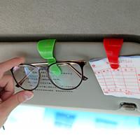 Wholesale Hot Sale auto fastener clip Auto Accessories ABS Car Vehicle Sun Visor Sunglasses Eyeglasses Glasses Ticket Holder Clip