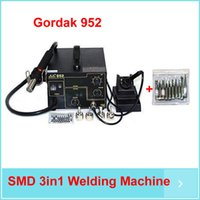 Wholesale by DHL Gordak V SMD in1 Welding Machine Hot Air Solder Rework Station Heat Gun Electric Soldering Iron