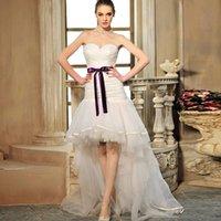 Wholesale 2015 New Listing irregular wedding dress trailing Bra empire sheath beach bow floor length bridal dress yarn