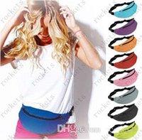 belly golf - 9 Colors Sport Unisex Runner Fanny Pack Belly Waist Bum Bag Fitness Running Jogging Belt Pouch