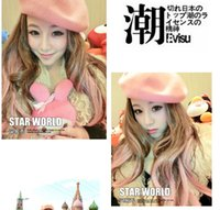 millinery - Autumn and winter hot models of popular multi wool beret painter hat millinery fashion multicolor
