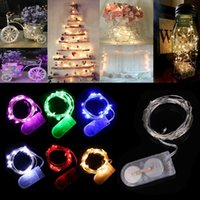 battery operated string lights - Christmas Lights CR2032 Cell Battery Operated m LED LED String Light Waterproof Led Fairy Lights For Party Wedding