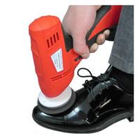 Wholesale 2016 household shoe polisher electric mini hand held portable Leather Polishing Equipment device automatic clean machine
