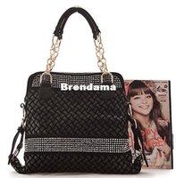 Wholesale New Autumn and winter women hand bag Fashion crochet shoulder bag Bead decoration women handbag