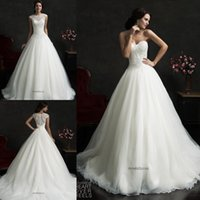 amelia jacket - Gorgeous Wedding Ball Gowns Amelia Sposa Wedding Dresses Vintage A Line Sweetheart with Detachable Jacket Luxurious Beaded Bodice Tulle
