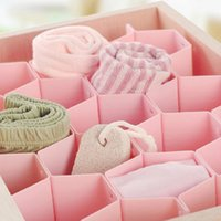 Wholesale Cute Pink Plastic Honeycomb Shape Cellular Sorting Grid Drawer Clothing Organizer Storage Box Container for Clothes MTY3