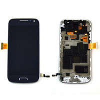 i9195 - original blue LCD display For Samsung S4 mini i9195 i9190 Touch Screen with Digitizer Bezel Frame
