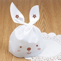 Wholesale White Rabbit Cookie Biscuit bag muffin cake bag cake container food packaging for wedding and festival party cm