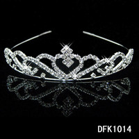 Wholesale Shiny Crystals Crowns Royal Bridal Wedding Tiaras Elegant Girls Headbands For Prom Evening Homecoming Party