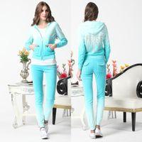 velour tracksuit - High Quality long sleeve sweatshirts J C velour tracksuits for ladies velet sweat suits velour zipper sportswear jogging tracksuits hoodies