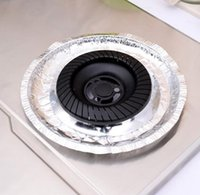 aluminum stove burner liners - New Aluminum Foil Round Gas Burner Bib Liners Covers For Stove Kitchen Clean Tool