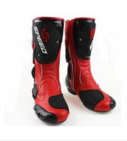 Wholesale New fashion leather motorcycle boots Pro Biker SPEED Racing Boots Motocross Boots drop resistance
