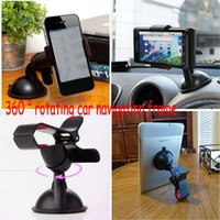 Wholesale Universal Navigation Rotating Clip Frame Windshield Table Car Phone Holder Bracket stands for iPhone Sumsang Smar Phone