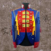 best service pants - Best Man coat Suits Groom Tuxedos Men s stage Suit Wedding Singer performance service Jacket Pants