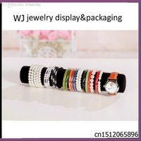 bargain watches - Bargain sale Black Velvet Jewelry Bracelet Bangle Watch Display Stand Holder Rack Anklet Bague Chain Travel Organizer Roll Csae