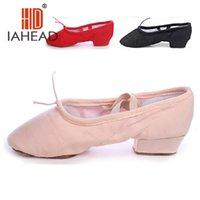 Wholesale Colors Red amp Black amp Pink Canvas Ballet Dancing Shoes Teacher Dance Shoes Practice Shoes Ballet Shoes JC shoe1