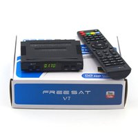 Wholesale High Digital P MPEG4 Freesat V7 Set Top box DVB S2 Satellite receiver Support USB Wifi G Dongle