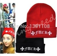 Cheap Fashion Winter Female Caps New Style Women Girls FUCK Beanie Autumn Casual Gorro Skullies Knitted Hats For Men! Free Shipping