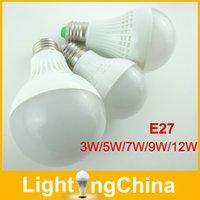 Wholesale New Arrival LED Bulbs E27 W W W W Warm White Pure White Cool White High Brightness and Energy Saving LED Lights Bulbs