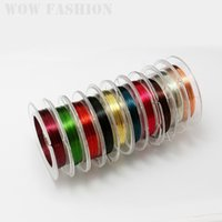 Cheap 10rolls lot 0.3MM Copper Wire 10mm  toll Assorted Colors Beading Wire For Women Jewelry Bracelet Earring Bracelet DIY Craft
