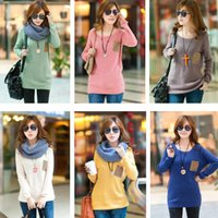 autumn cashmere sale - Sale Autumn Winter Elastic Women Knitted Sweater Jumper Knitwear Casual Letter Pocket O neck Pullover Sweaters Clothes