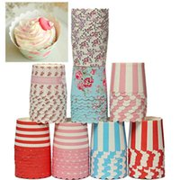 Wholesale 50PCS bag Paper Cake Cup Liners Baking Cup Muffin Kitchen Cupcake Cases Kitchen Cooking Tools