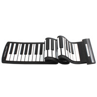 Wholesale Chrismas gift MD61 Flexible Keys Professional MIDI Keyboard Electronic Roll Up Piano for Children MIA_678
