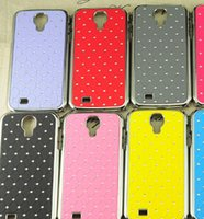 rhinestone cell phone cover - GALAXY S4 Case Luxury Rhinestone Chrome Cases for SAMSUNG S4 I9500 Smart Cell Phone Starry Sky PC Hard Back Cover Dustproof Skin