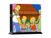 ps4 console - Cool Simpsons Vinyl Decal PS4 Skin Stickers Wrap For Sony PlayStation PS4 Console and Controller Cover Decals