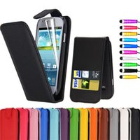 Cheap Wholesale-Wallet Card Magnetic PU Leather Case for Samsung Galaxy S3 mini i8190 Cover Cases Flip Case for Samsung i8190 S3mini +TpouchPen