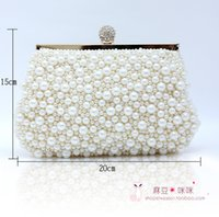 best selling handbags - Pearls Beads Girl Handbags Evening Party Occasion Wedding Party Bride Hand Bags Black White Hand Bags Best Selling SHJ