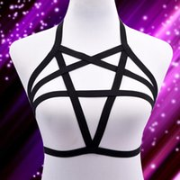 Cheap Roses Body harness Black lingerie Best cage bra gothic