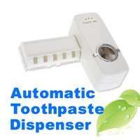 Wholesale Automatic Toothpaste Dispenser Set Tooth Brush Holder Tooth Paste Tube Squeezer New BHU2