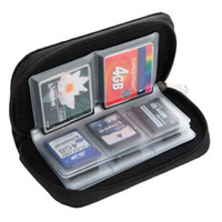 Wholesale Vogue SD SDHC Mmc CF Micro Memory Card Storage Carrying Pouch Case Holder Wallet MD343