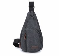 Wholesale Single Shoulder Bag Unbalanced Chest Haversack Mobile Phone Pouch Small Stuff Cross Body Men Canvas Bag Casual Outdoor Travel Sling Pack