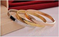 Wholesale Titanium steel bracelet rose gold and silver bracelet love bangle fashion jewelry